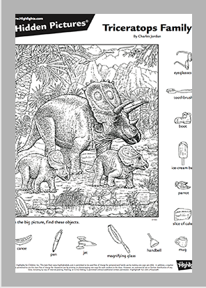 07_Triceratops-Family_template