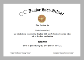 Club Graduation Certificate