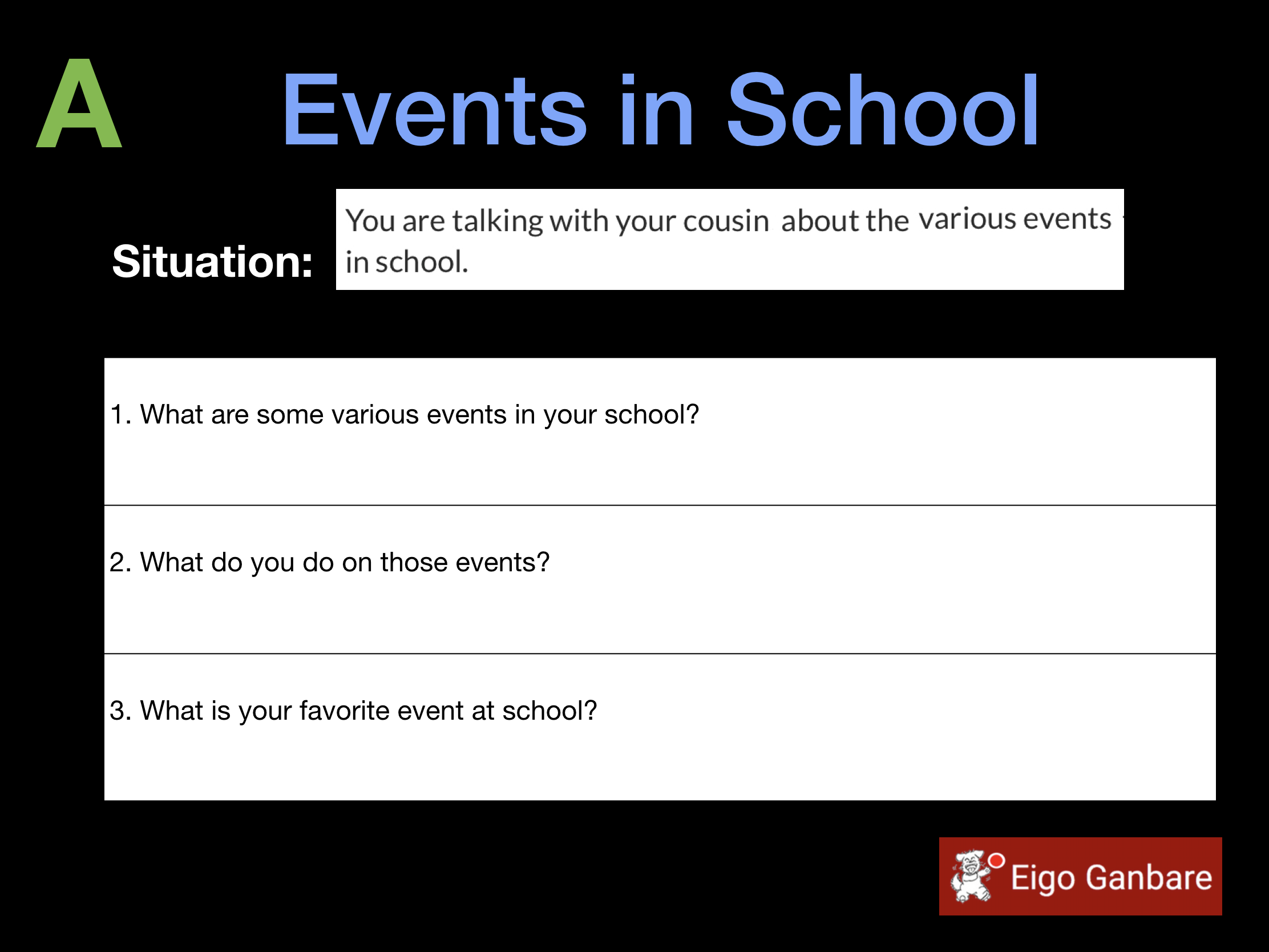 Events in School