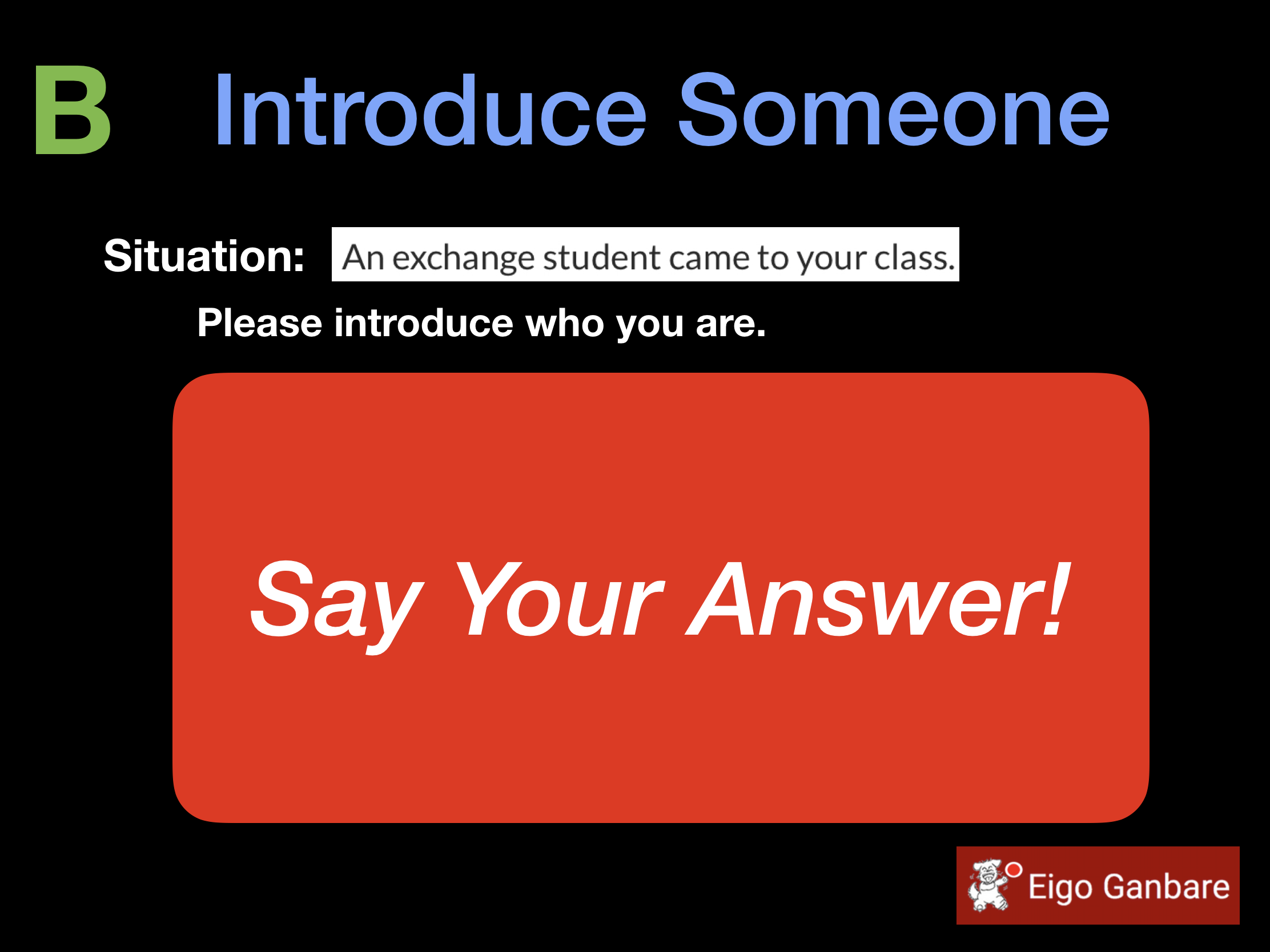 Introduce Someone